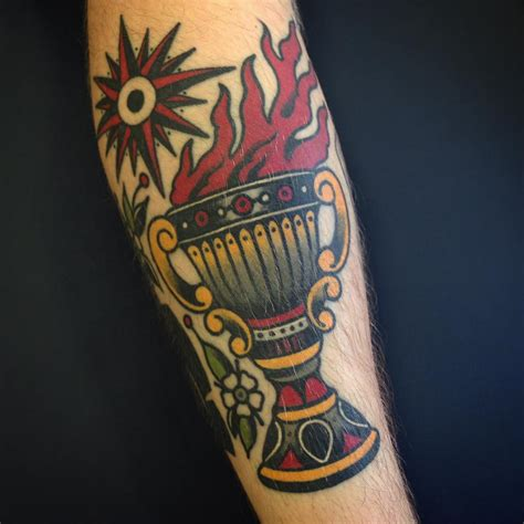 chalice tattoo goblet on forearm best ideas gallery