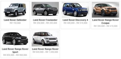 kereta range rover harga kereta malaysia terkini dan terbaru berita semasa