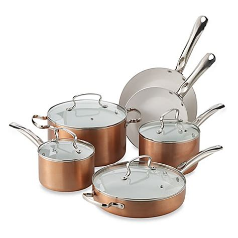 denmark 174 10 piece ceramic nonstick aluminum cookware set