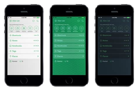 best ui themes for iphone evernote updated with customizable home screen ui themes