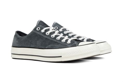 Converse 70s Suede Ox Black converse chuck all 70 ox suede charcoal black