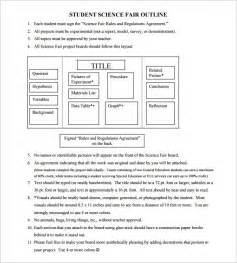 science fair template search results for science fair projects outline