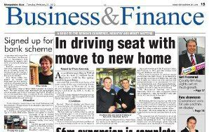 Newspaper Section by Featured In Local Press 187 Oliver Gibbs Carpentry Joinery