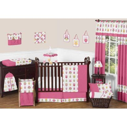 Pink And Yellow Baby Bedding Sets Sweet Jojo Designs 11pc Happy Owl Crib Bedding Set Pink