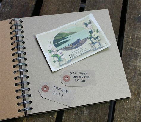 memory book personalised vintage map memory book by posh totty designs