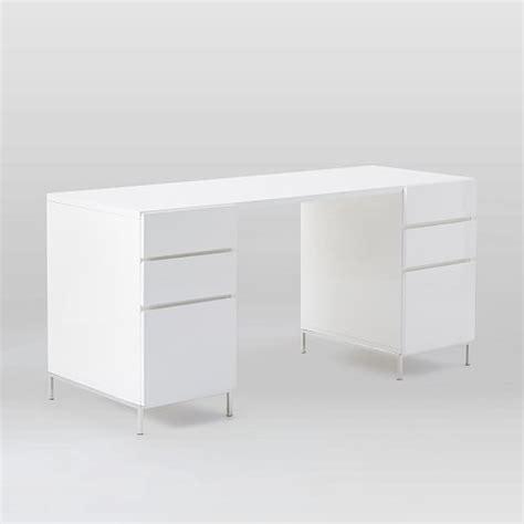 Lacquer Storage Desk Set 2 Box Files West Elm White Lacquer Desk Accessories