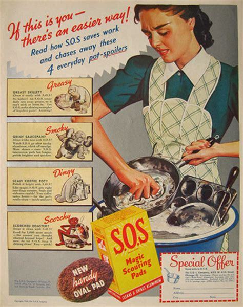 household magazines 1940 vintage s o s scouring pads ad vintage household ads