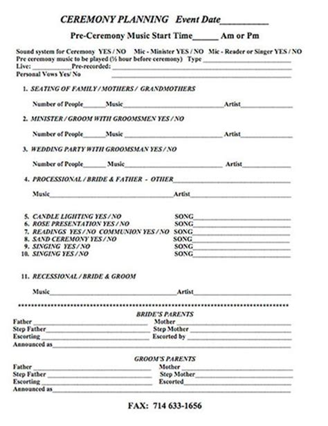 Wedding Planner Sheets by Weddings Wedding Entertainment Corporate Entertainment