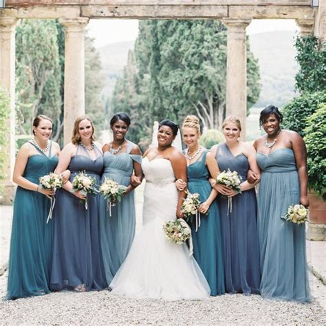 Bridesmaid Dresses For Different Sizes - bridesmaid dresses different styles plus size blue
