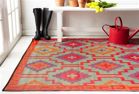 Lhasa Orange And Violet Indoor And Outdoor Plastic Outdoor Plastic Rugs