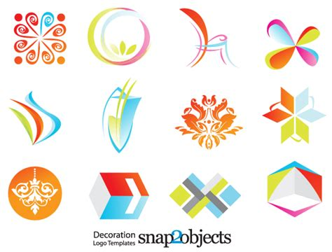 free logo vector templates free decoration logo template vector icons 123freevectors