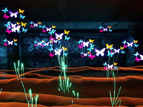 creative lights magical created by light painting with stencils