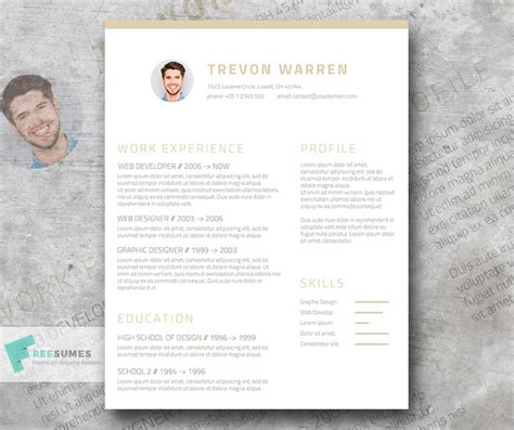 Clean Resume Template Free by Clean Resume Template Free Annecarolynbird