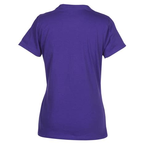 4imprint hanes nano t v neck t shirt colors 103478 l vn c imprinted with your logo
