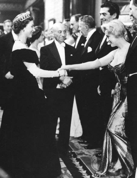 queen film london the queen meets marilyn monroe at the royal premiere of
