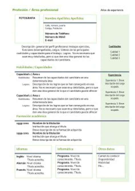 Modelo Curriculum Vitae Veterinario Plantillas De Curr 237 Culum Vitae Hacer Curriculum