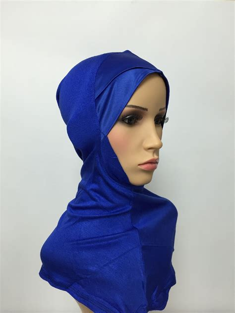 Cacao Hijabmatch Royal Blue criss cross satin underscarf royal blue