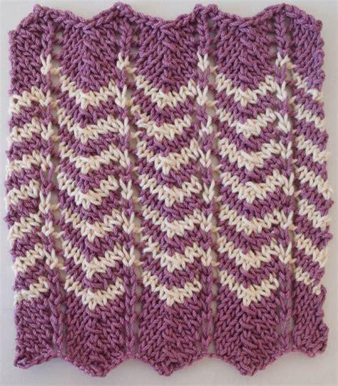 chevron knitting pattern knitting pattern simple chevron dishcloth underground