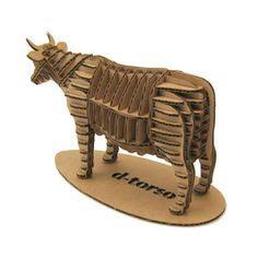Diy Miniatur Papercraft Taman Safari mounted cardboard cow cant find a longhorn but i