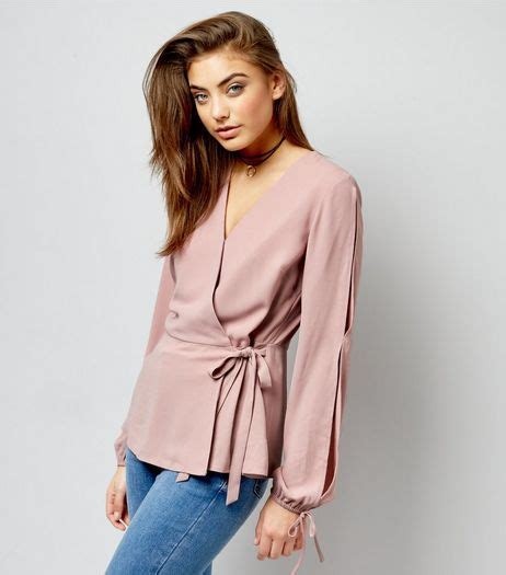 Sleeve Blouse New Look by Wrap Blouse New Look Collar Blouses