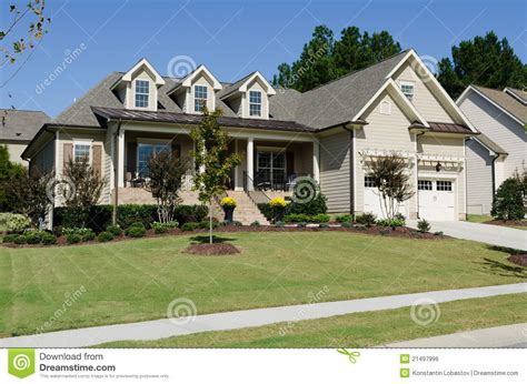 suburban houses suburban house royalty free stock image image 21497996