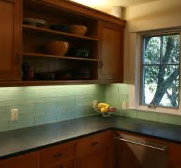 Green Kitchen Backsplash Green Glass Kitchen Backsplash Mill Valley Modern Kitchen San Francisco By Marin