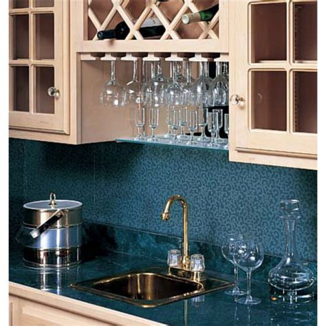 under cabinet wine rack wood omega national wood wine glass stemware racks for under