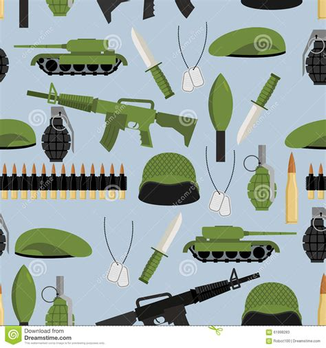 army pattern tank army seamless pattern arms background tanks and hand
