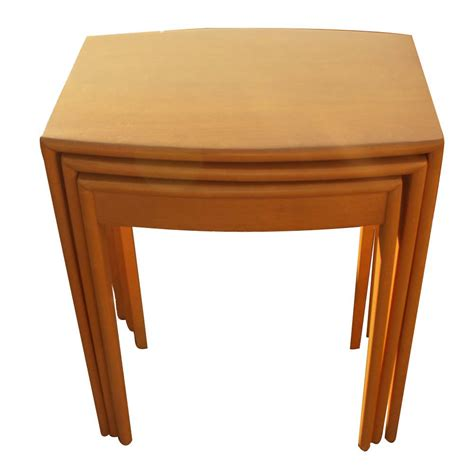 Nesting End Tables Heywood Wakefield Stacking Nesting Side End Tables M312 Ebay
