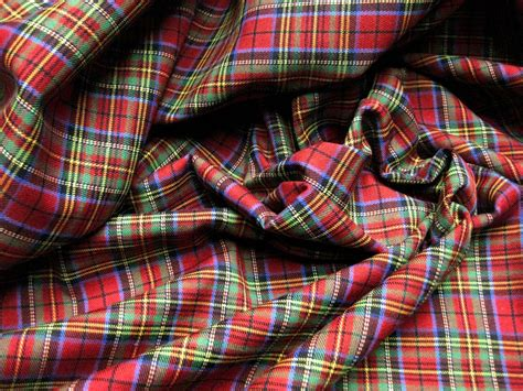 scotch plaid red blue green scotch plaid tartan cotton fabric 60 quot w kilt