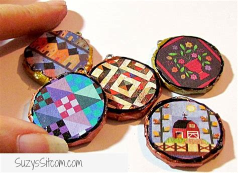 How To Make Waste Paper Products - pretty pendants made from cardboard