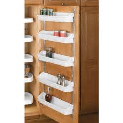 Cabinet Door Organizers Kitchen Rev A Shelf Five Shelf Kitchen Door Storage Sets Kitchensource
