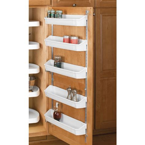 kitchen cabinet shelf organizers rev a shelf five shelf kitchen door storage sets