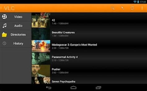 vlc media player for android vlc v1 7 5 apk app axeetech