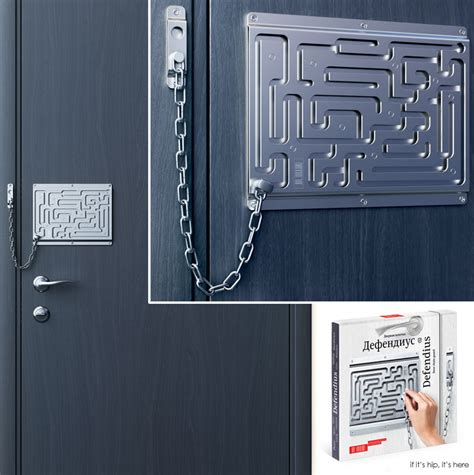 the brilliant maze door chain lock finally comes to life as a real product if it s hip it s here
