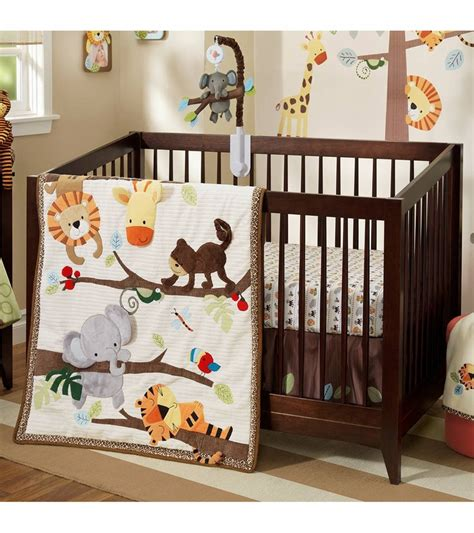 lambs and ivy crib bedding lambs ivy treetop buddies 4 piece crib bedding set