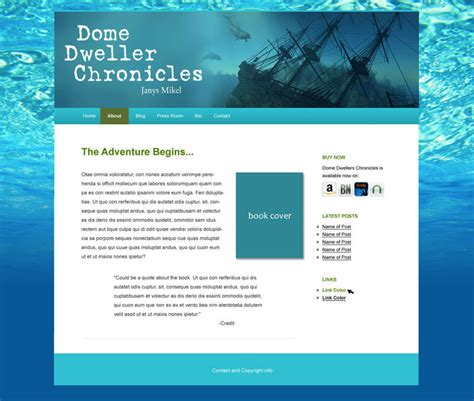 Announcing New Author Website Templates Where Writers Win Author Website Template