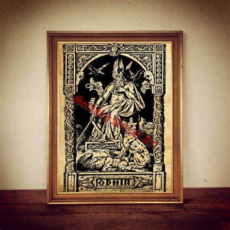 home decor art prints 243 odin print odin poster viking print viking poster