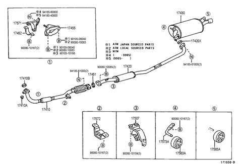 1997 Toyota Camry Exhaust System Diagram 2001 Toyota Camry Exhaust System Diagram Car Interior Design