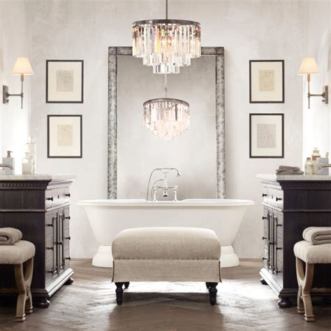 20 Bathroom Chandelier Designs Decorating Ideas Design Chandelier For Bathroom