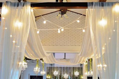30 foot long ceiling drape 4 beautiful sheer fabric panels