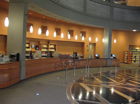 Check Out Desk by Check Out Desk At The Rockville Library Flickr Photo