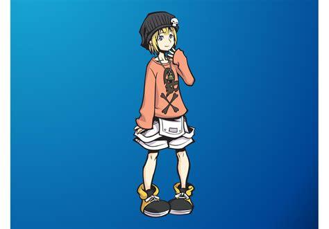 cute anime girl   vector art stock graphics