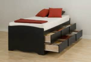 Black Platform Bed With Drawers Black Size Mates Platform Storage Bed With Six
