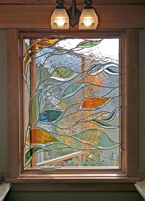 stained glass bathroom door stained glass window in bathroom depicting blowing