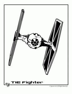 Star Wars TIE Fighter Coloring Page More sketch template