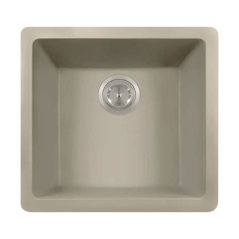 Slate Kitchen Sink Polaris Sinks Undermount Granite 17 3 4 In Single Bowl Kitchen Sink In Slate P508 Slate The