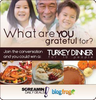 Turkey Dinner Giveaway - turkey dinner giveaway