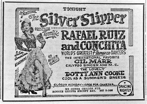 silver slipper menu silver slipper menu 28 images unlv libraries digital