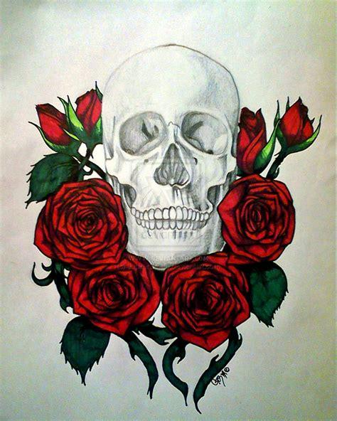 skull and rose tattoos tumblr roses and skulls www imgkid the image kid
